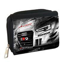 Audi DTM Mens Personalised Black Denim Wallet
