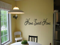 HOME SWEET HOME Vinyl lettering entry way Wall Decal Sticker Home Decor words