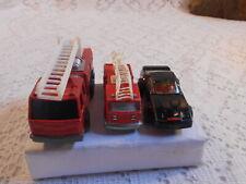 2 small die cast Fire Trucks 1 Tonka & 1 Majorette 1 Darda car Vintage Old