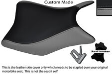 GREY & BLACK CUSTOM FITS HONDA CBR 125 R 11-13 FRONT LEATHER SEAT COVER