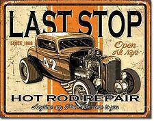 Last Stop Hot Rod Repair metal sign 400mm x 320mm (de)