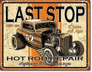 Last Stop Hot Rod Repair metal sign 400mm x 320mm (de)
