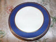 Wedgwood SWINBURNE BLUE Wide Rim Soup Bowls 6 William H. Plummer NY 1930's