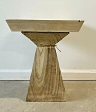 """Wooden Table Modern Solid Wood Accent Furniture Home Decor 18""""H"""