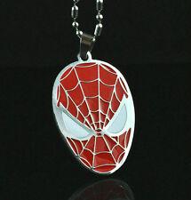Super Hero Spiderman Pendant Chain Metal necklace Fashion Boy Man HS Xmas