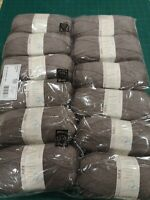 12 x king Cole 3097 mushroom brown big value 4 ply 100g balls