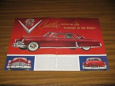 1948 Print Ad Cadillac Red with White Sidewall Tires