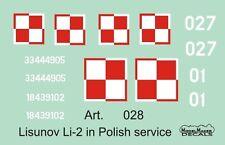 lisunov li-2 (sowjet dakota) - polnische af markings #72028 1/72 modelmaker