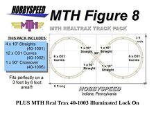 MTH 031 FIGURE 8 TRACK PACK & ILLUMINATED LOCK ON 3' x 6' O Gauge Train Layout