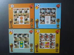 G2638   Bhutan 1982 WORLD  CUP  SOCCER  SPAIN  4  X  IMPERF  S/S  OVERP.SCARCE