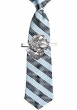 CodeA5 Spaniel's Head  Tie Clip Ties slide Pewter Jewellery Bar Smart Suit Gift