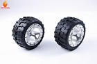 Wheel Tyre Assembly Kit with CNC Metal Wheel Hub for 1/5 FG ROFUN ROVAN BM  RC
