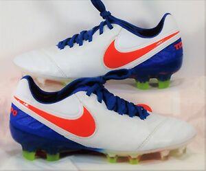 Nike Tiempo Legend VI FG ACC Blue White Women Soccer Cleats Sz 6 NEW 819256 164