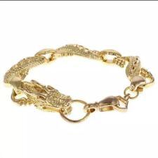 UK Men / Women Gold Dragon Style Bracelet Jewellery Wristband Brand New Alloy