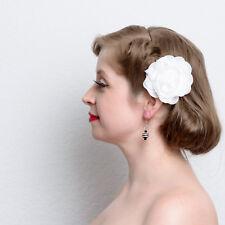 Black White Striped Resin Ball Dangle Earrings handmade pinup rockabilly pierced
