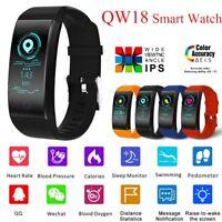 Sports Heart Rate Blood Oxygen Pressure Monitor Smart Watch Wrist Band Bracelets