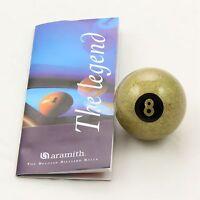 Exclusive 2 Inch Aramith Premier GOLDEN 8 BALL Single Pool Ball