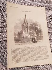 Memorial at Gloucester to Bishop Hooper - 1870 Book Print