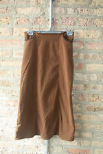 Copper Key Maxi Skirt 12 Brown Stretch Pockets Accent Stitching