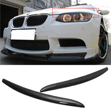 For BMW E92 E93 & M3 2007-2012 Front Eyelid Eyebrow Headlight Cover Carbon Fiber