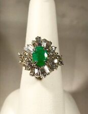 14k Engagement/Right Hand Ring Classic Emerald and Diamond