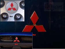 Lancer Front & Rear Emblem + Center Cap emblem precut decal overlays RED