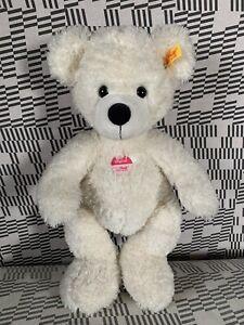 Steiff Bär Lotte 40 cm Weiß Plüsch Teddy 111778 Knopf Geschenk Geburt Taufe