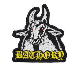 Bathory Patch Black Thrash Metal Band Logo