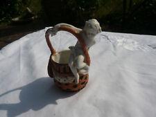 Alte antike Porzellan Figur Germany 12.003 Junge mit Korb Markenporzellan Amor