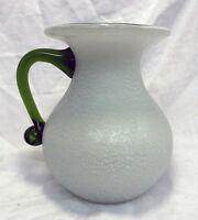 Art Deco Czech Kralik / Loetz Irridescent Applied Glass Vase c 1920s - 1930s