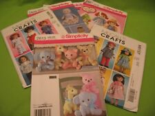"SIX PATTERNS FOR DOLL CLOTHES - ""ONE SIZE"" (SIMPLICITY), ""OSZ"" (McCALL'S)"