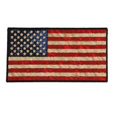 US FLAG Distressed American Flag BACK PATCH 10 INCH IRON ON MC BIKER  PATCH