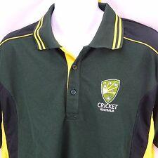 Men's Casual Shirt Size XL Cricket Australia Polo Style NWT Green Yellow