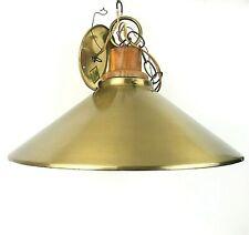 Mid Century Brass & Wood Pendant Hanging Light Fixture Thomas Industries USA MCM