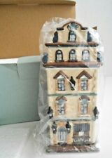 PartyLite Cafe Prague Tealight Candle House Old World Christmas Village Nib