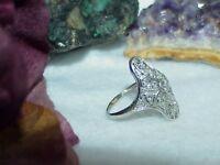 Antique Platinum 1.00ct Diamond Art Deco Filigree Ring Size 7 Estate Minty Clean