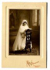 photo Ancienne Portrait Jeune Fille Communiante Oran