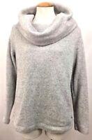 Tommy Hilfiger Womens Sweatshirt Sweater Cowl Neck Gray Shirt Size S/P Small