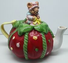 VINTAGE PIN CUSHION AND MOUSE TEA POT - C1950s