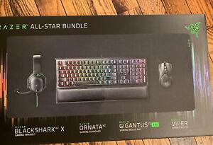 Razer All-Star Gaming Bundle (Keyboard-Viper Mouse-XXL Pad-Blackshark Headset)