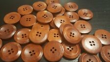 25 Botones de Madera-Brown - 25 Mm-Scrapbooking-Manualidades-Costura - Reino Unido Vendedor