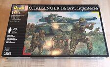 Revell Challenger British Tank Plus Infanterie Infantry 03163 1:72 Model WW2