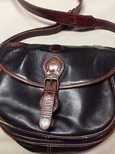VINTAGE 1980's Hand Crafted Leather  Shoulder bag by Green Hill