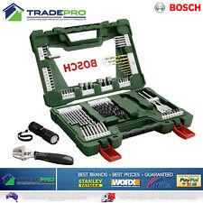Bosch XLine PRO 83pc Drill Driver Bit Set Screwdriver Torch & Adjust Spanner Kit