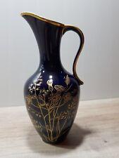 Porzellanvase Lindner Echt Cobalt Goldgräser