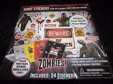 Undead Zombie large sticker sheet 24 total laptop sticker removable walking dead
