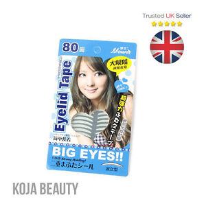 Big Eyes Double Eyelid Tape (160 pcs) Instant Eyelift Hooded Eyes Monolids - UK