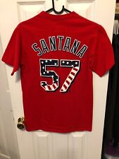 Johan Santana New York Mets Stars And Stripes Shirt Size Small Red Majestic