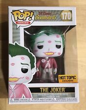 FUNKO POP DC BOMBSHELLS THE JOKER with KISSES HOT TOPIC EXCLUSIVE GREAT GIFT