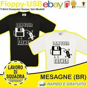 T-shirt - Floppy Disk USB - Pen drive Device Computer PC Humor Divertente Italy